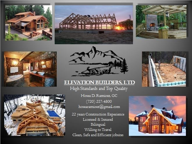 ELEVATION BUILDERS LLC