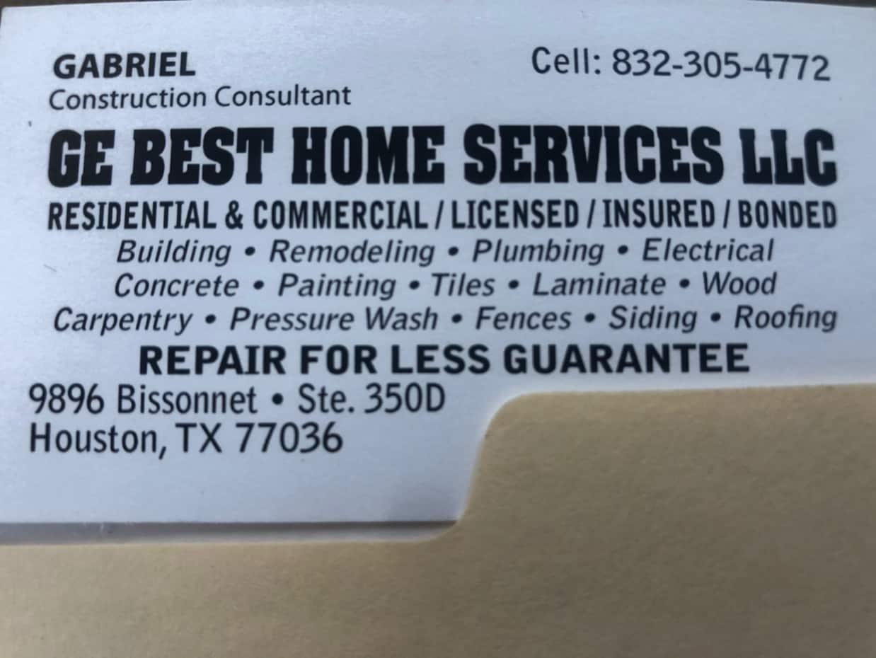 GE Best Home services, LLC