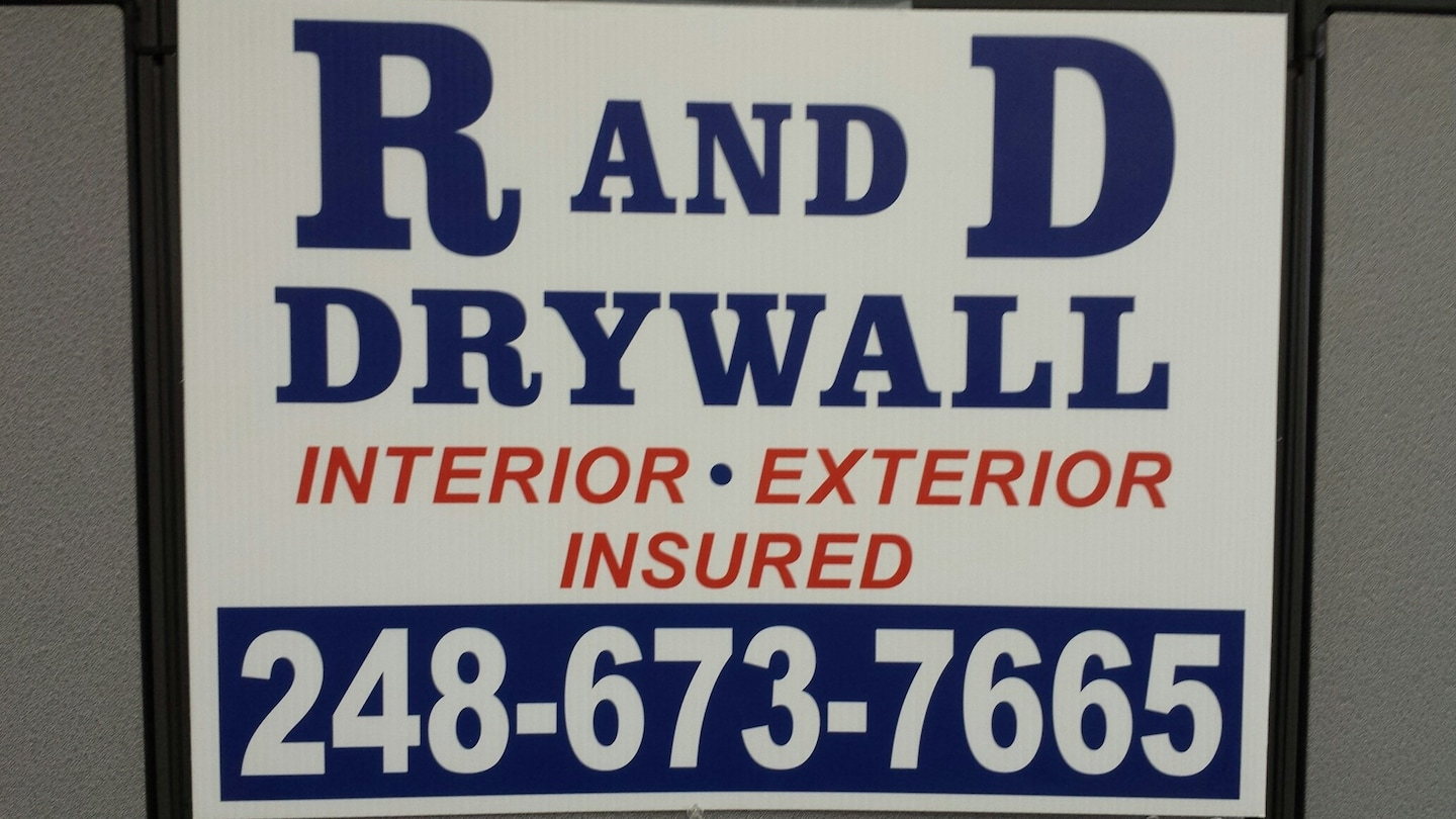 R and D Drywall and Painting logo