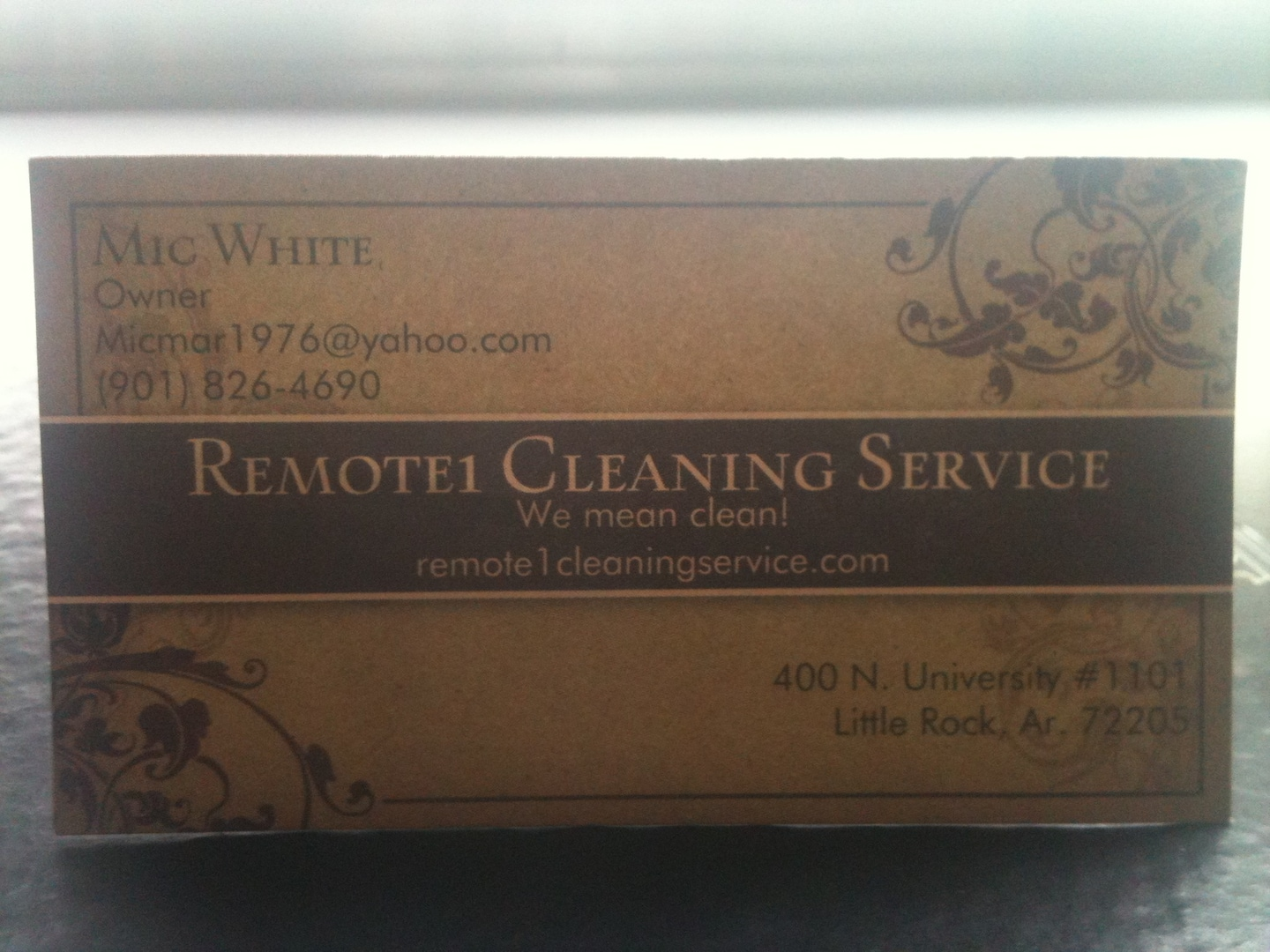 Remote 1 Cleaning Service
