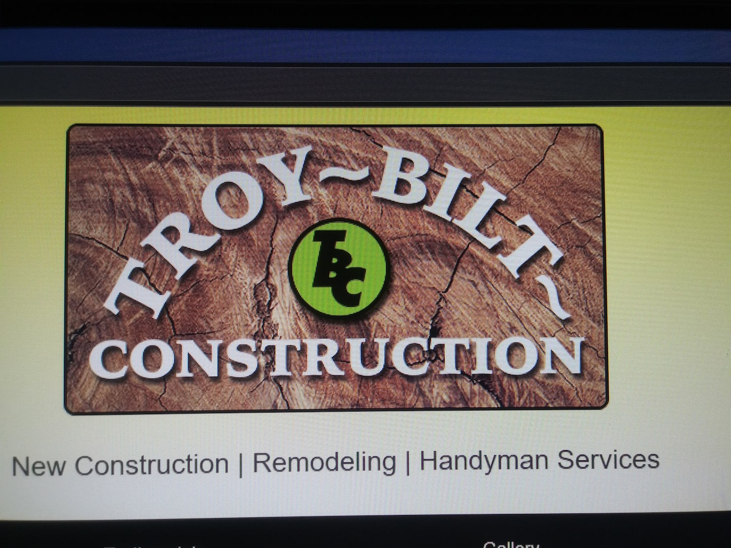 Troy-Bilt Construction