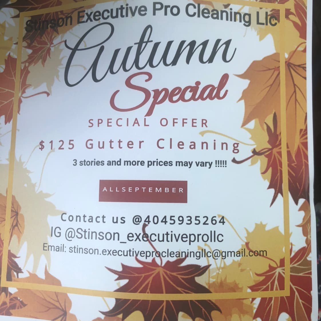 Stinson's executive pro cleaning Services llc
