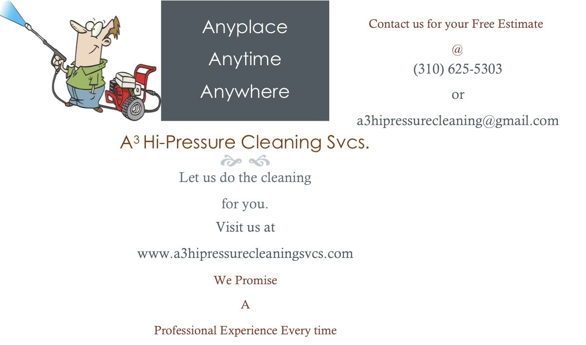 A3 Hi-Pressure Cleaning Svcs