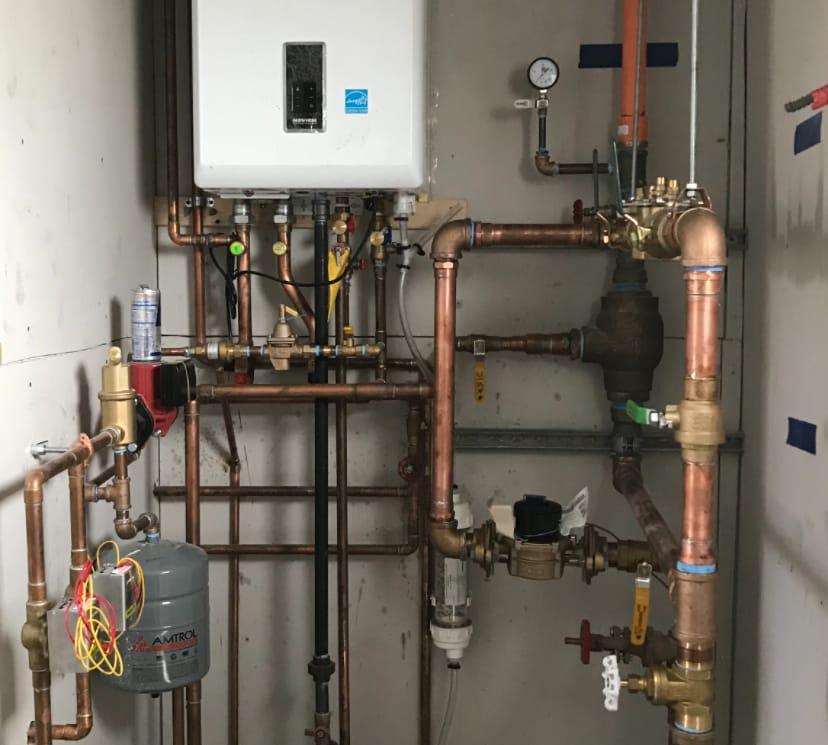 Tankless Navien Combo Boiler & Hot Water Heater Installation