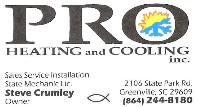 Pro Heating & Cooling Inc