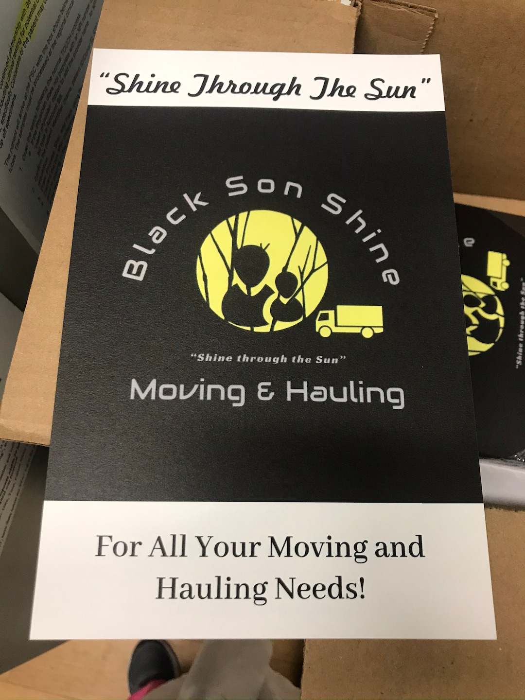 Black Son Shine Moving & Hauling, LLC