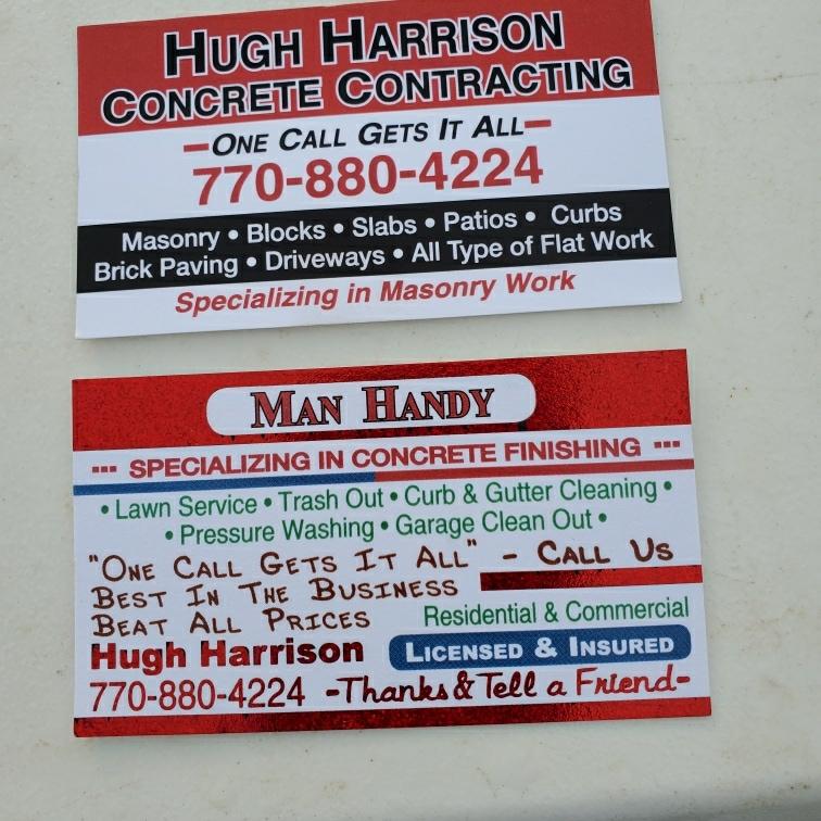 Hugh Harrison Concrete Contracting logo