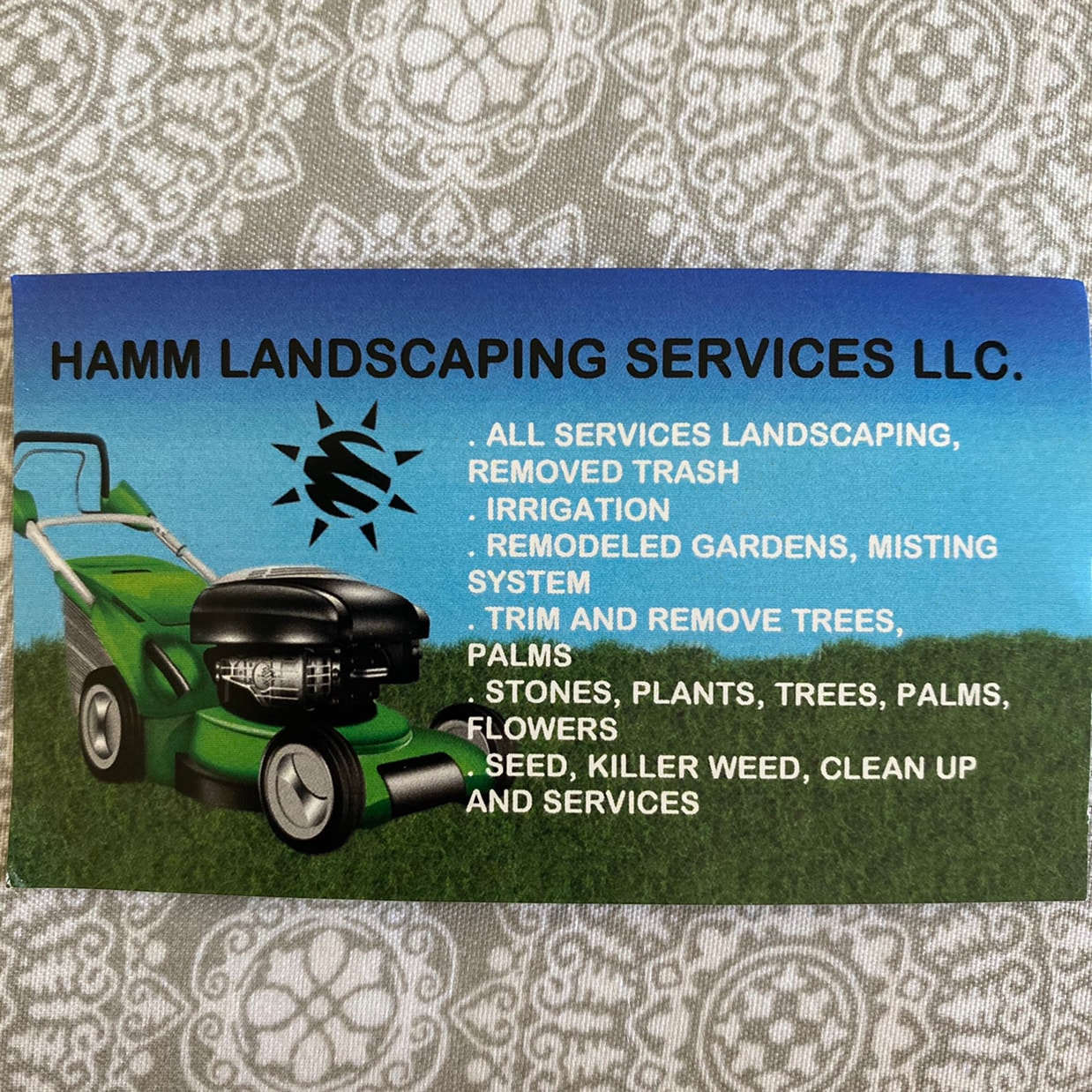 HAMM LANDSCAPING SERVICES LLC