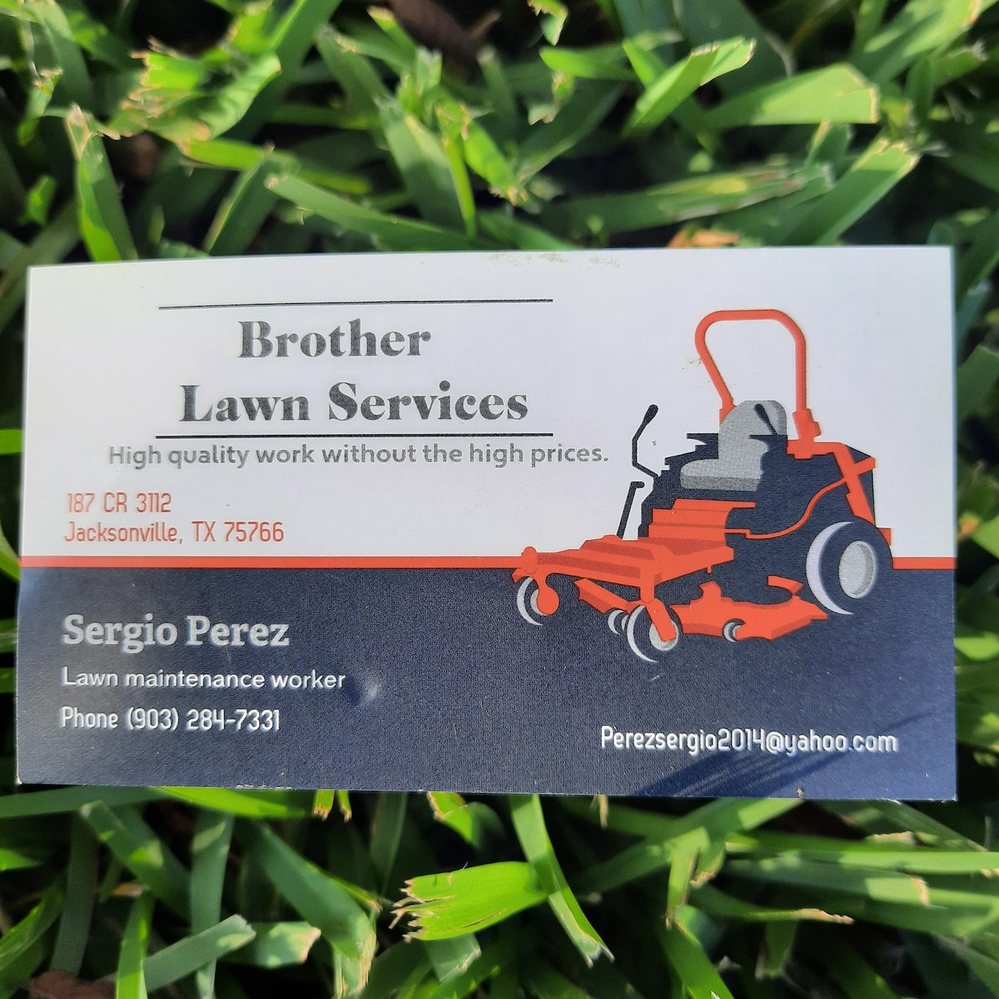 Brother lawn services