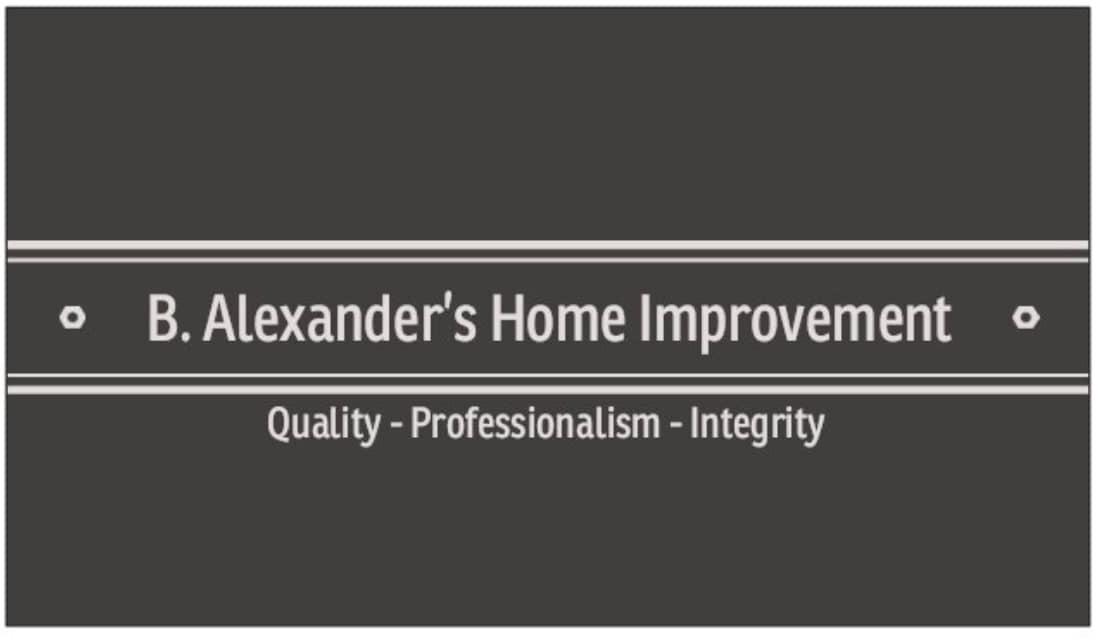 B. Alexander's Home Improvement