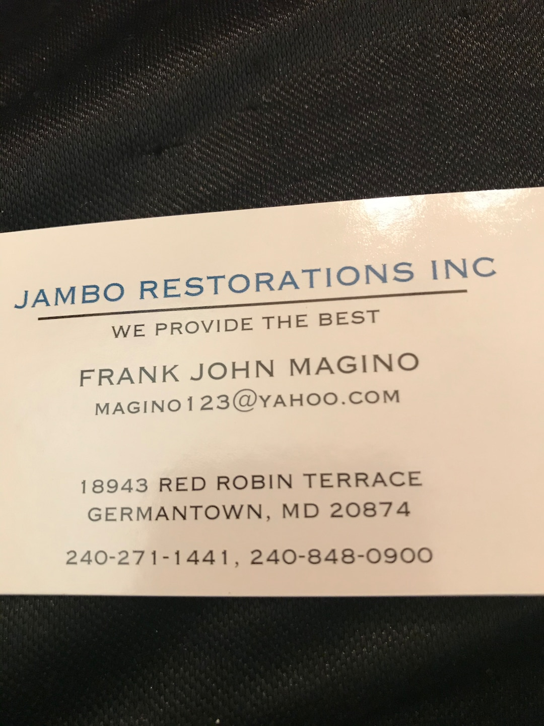 JAMBO RESTORATIONS INC