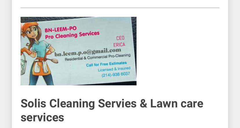 Solis Cleaning & Lawn Care Services