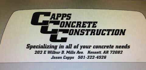 CAPPS CONCRETE CONSTRUCTION