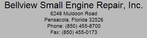 Bellview Small Engine Repair Inc