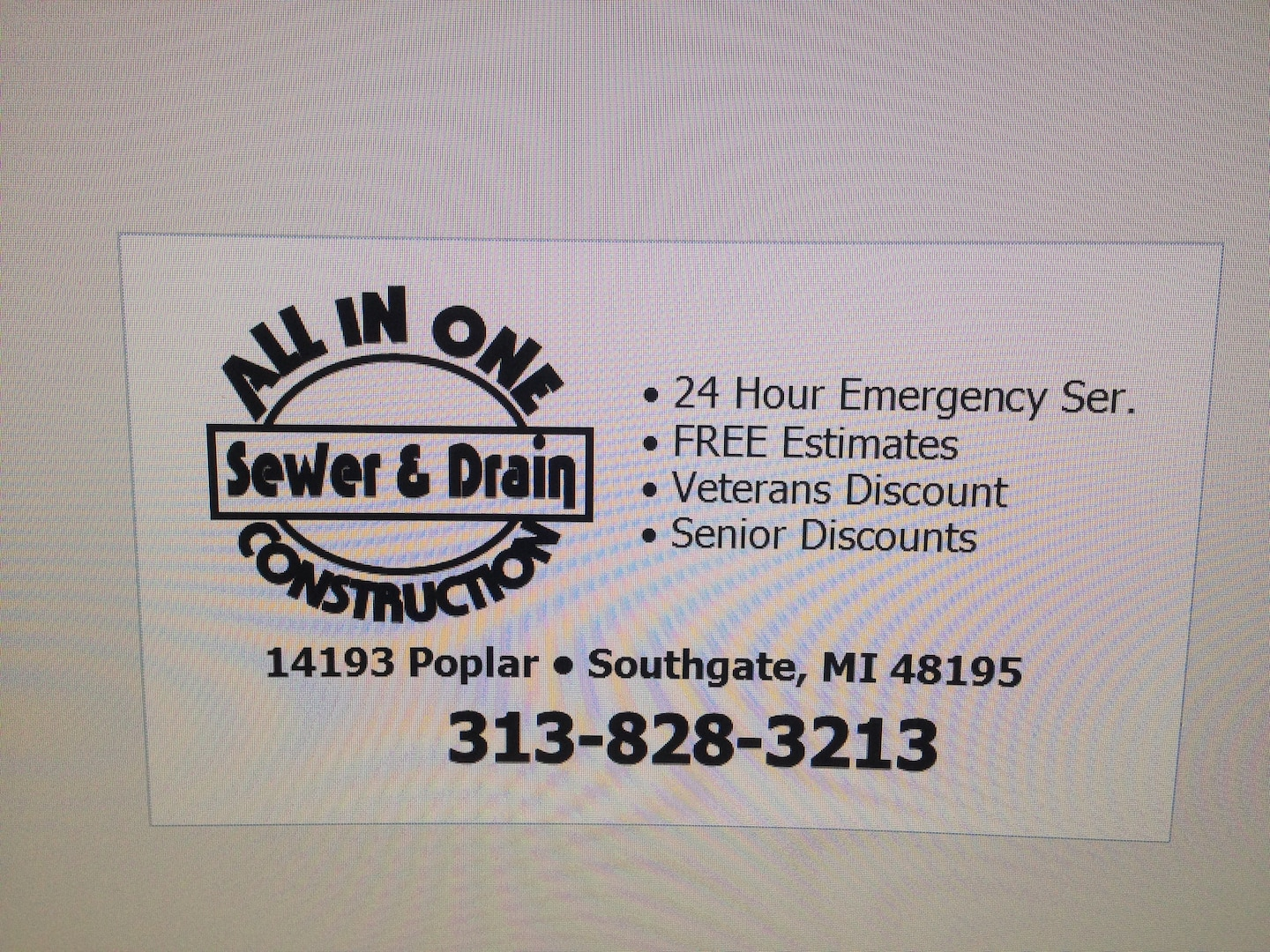 All-In-One Construction Sewer & Drain