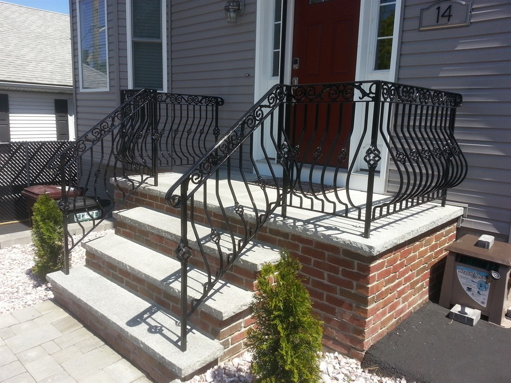 exceptional wrought iron stair railings interior 14 nice.htm american design iron work reviews peabody  ma angie s list  american design iron work reviews