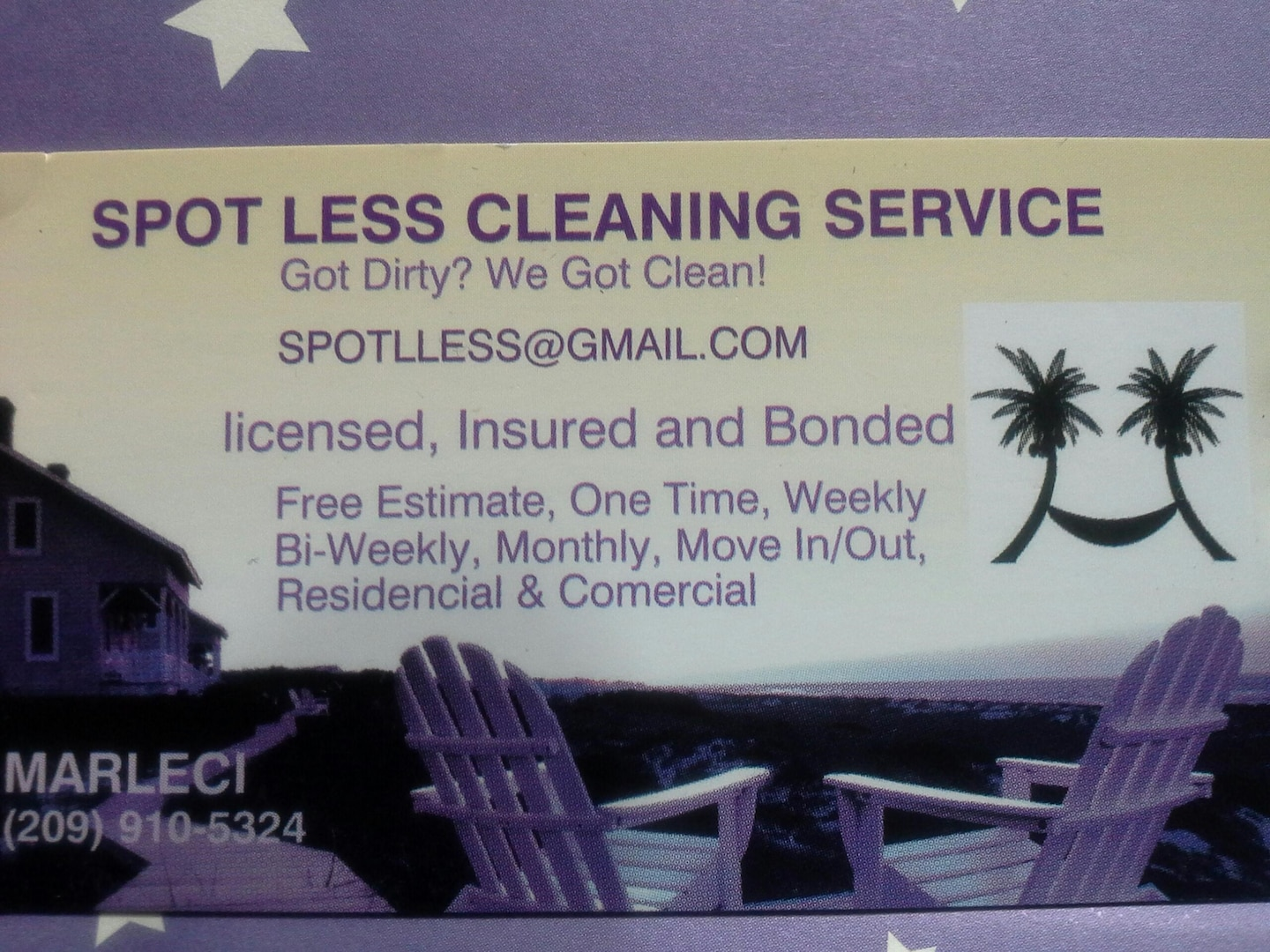 Spot Less Cleaning Service