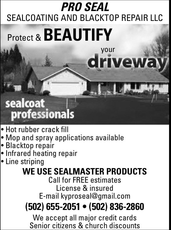Pro seal sealcoating and blacktop repair