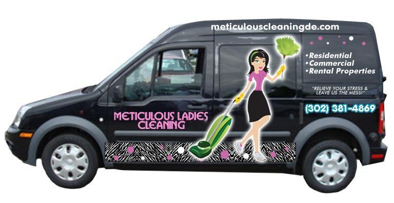 Meticulous ladies cleaning