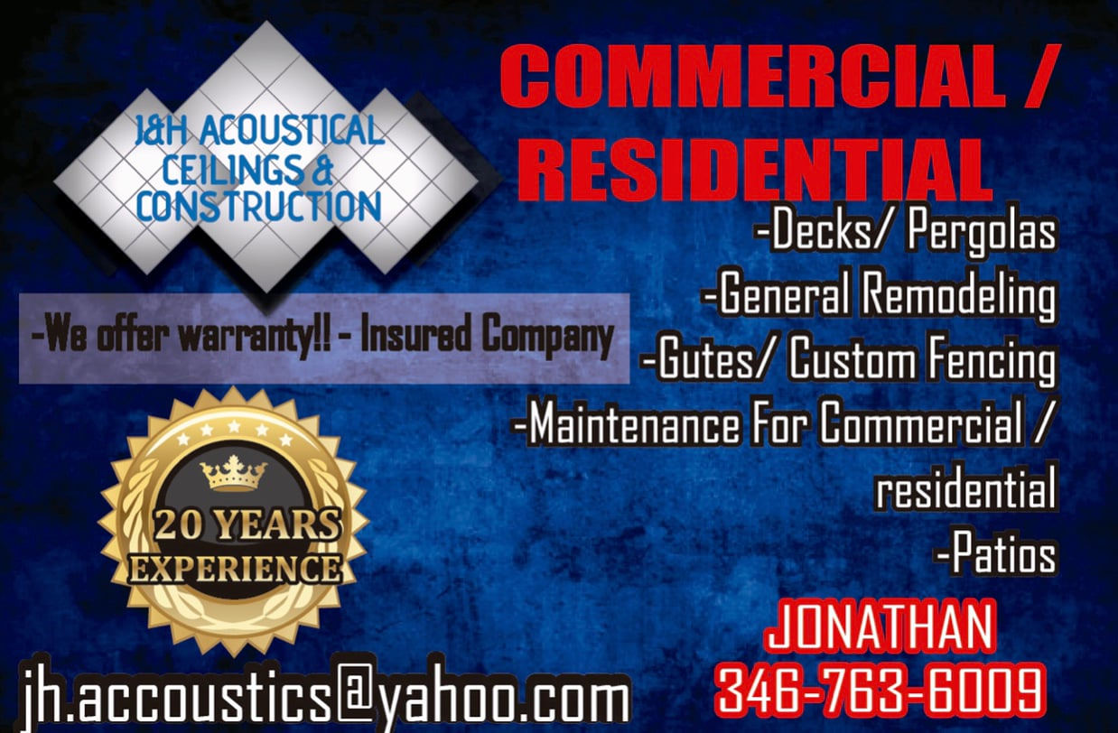 J&H Acoustics Ceilings and Drywall