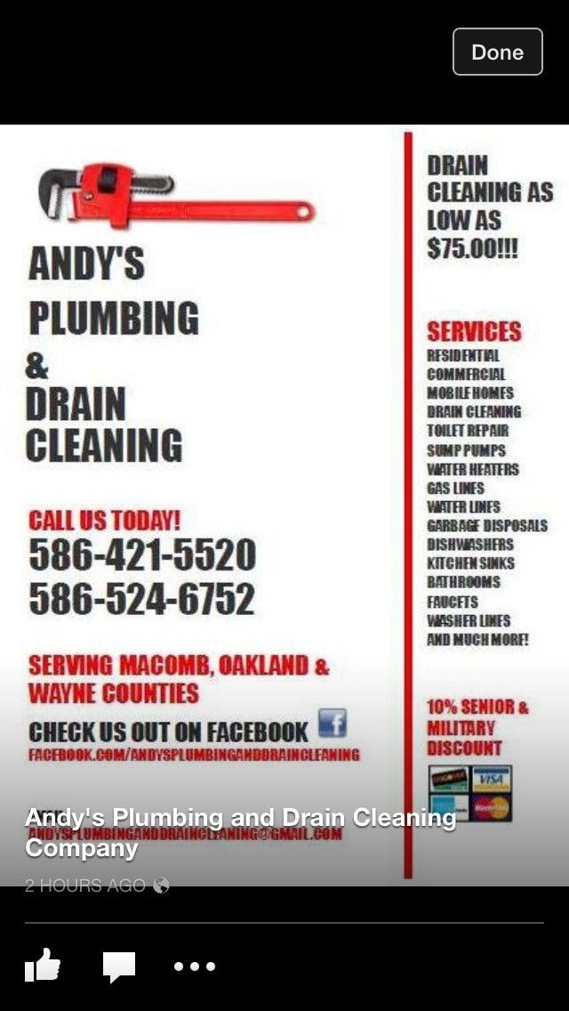 Andy's Plumbing and Drain Cleaning Co., Inc
