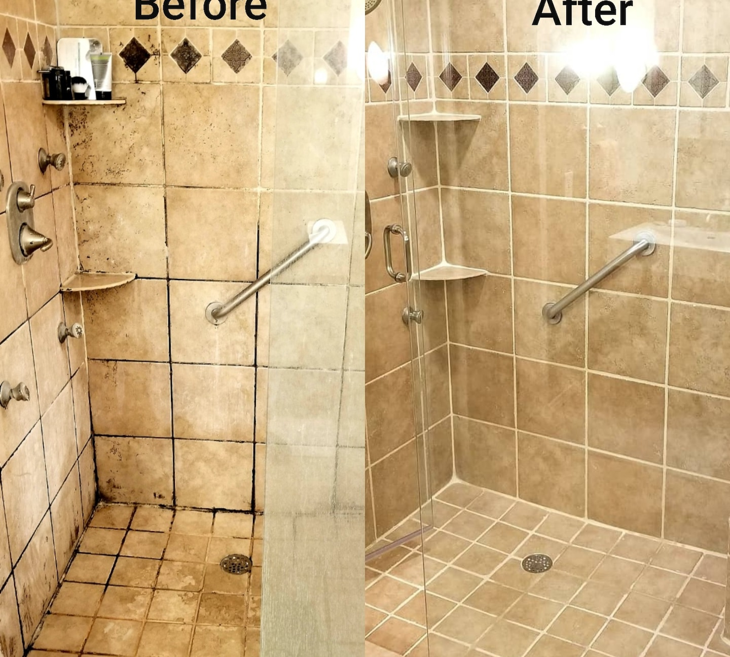 Bathroom Shower Tile and Grout Cleaning and Restoration