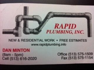 Rapid Plumbing Inc