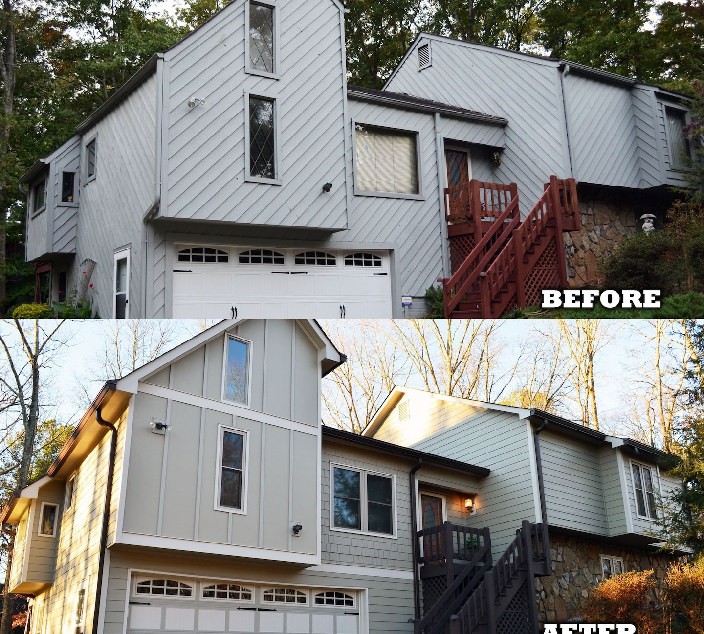 Before And After Siding, Windows, and Doors