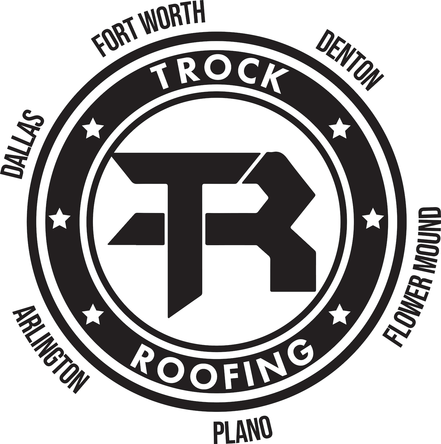 T Rock Roofing & Construction logo