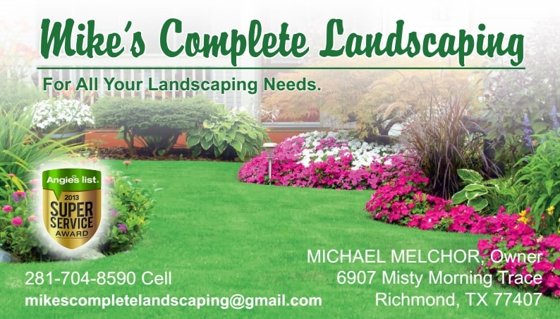Mike S Complete Landscaping Reviews Richmond Tx Angie S List
