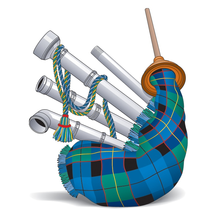 The Scottish Plumber logo