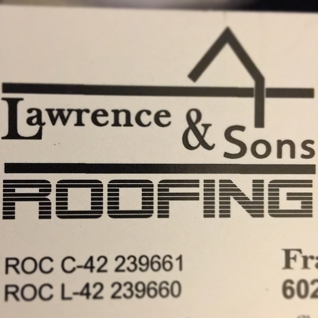 Lawrence & Sons Roofing Inc