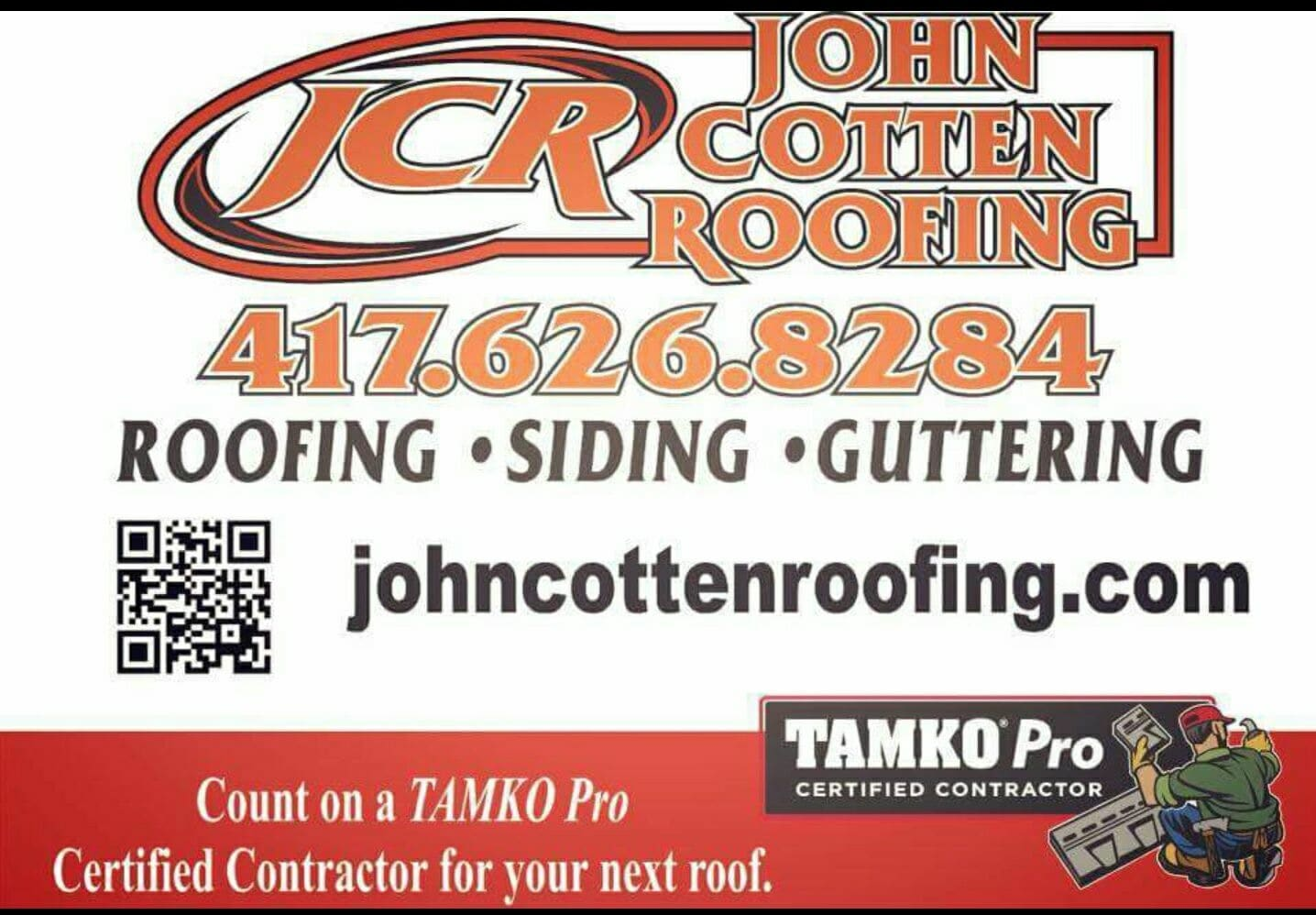 (JCR) John Cotten Roofing & Home improvement