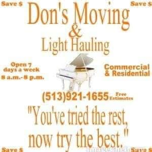 A+ Don's Movers & Hauling
