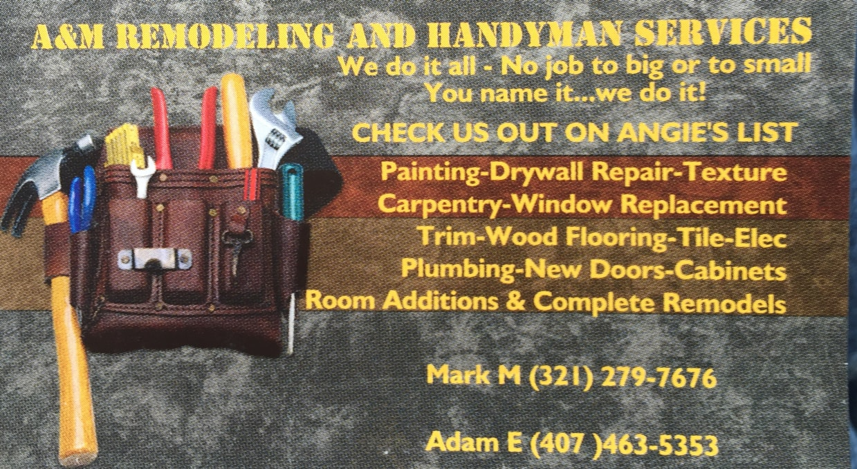 A Amp M Remodeling And Handyman Services Reviews Apopka Fl