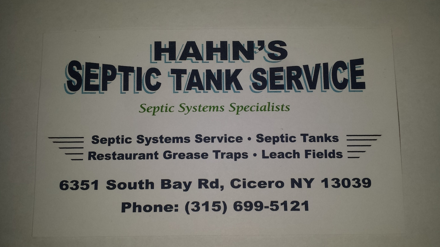 Hahn's Septic Tank SVC