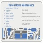 Dave's Home Maintenance