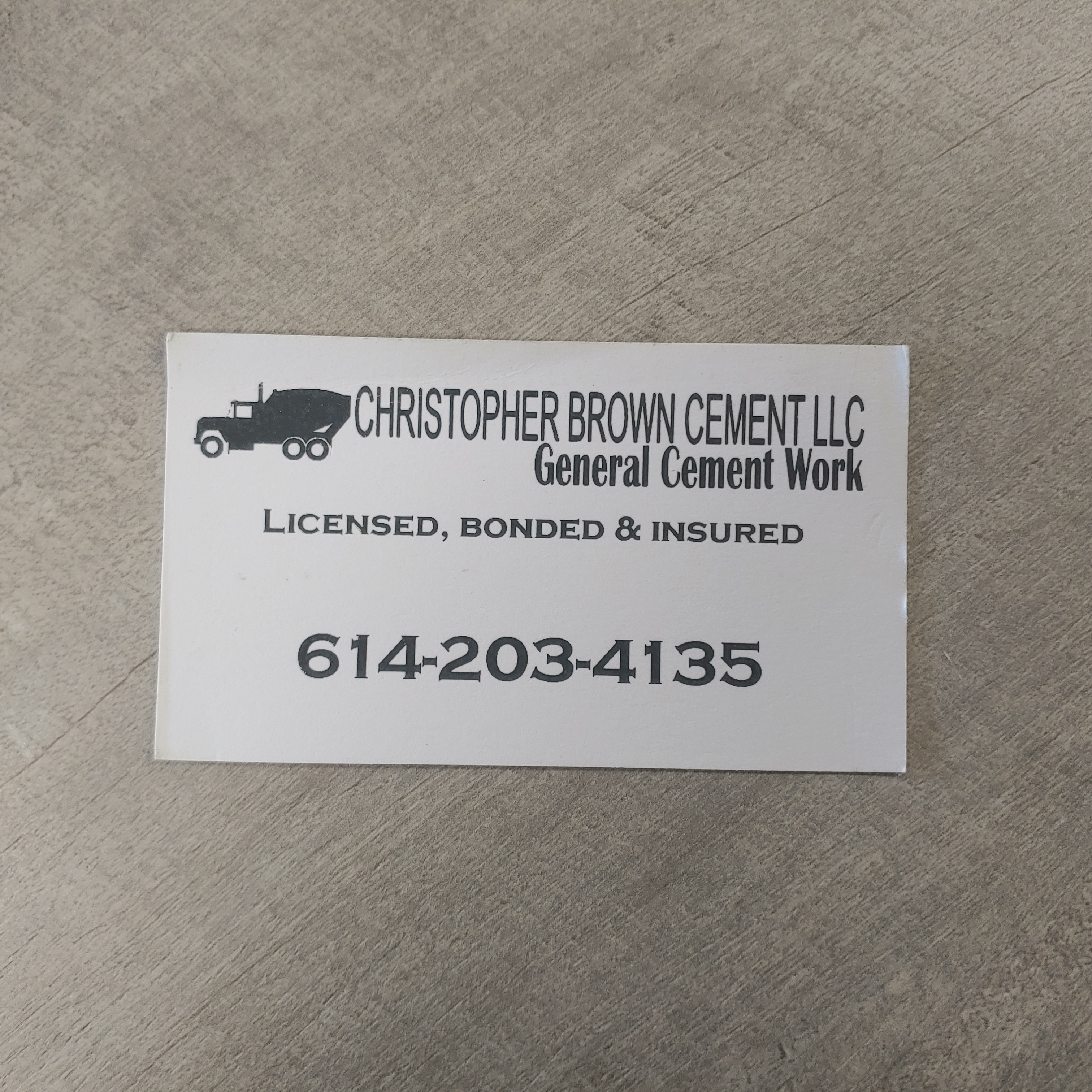 Christopher Brown Cement LLC