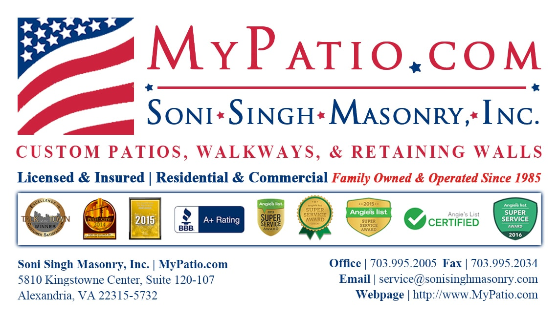 Soni Singh Masonry, Inc. MyPatio.com