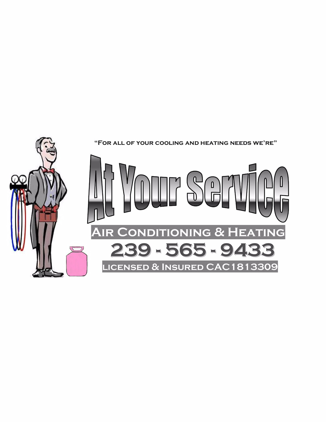 At Your Service Air Conditioning and heating Inc