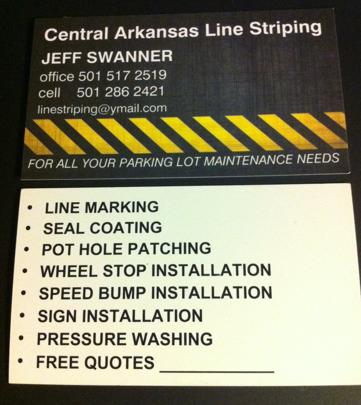 Central Arkansas Line Striping