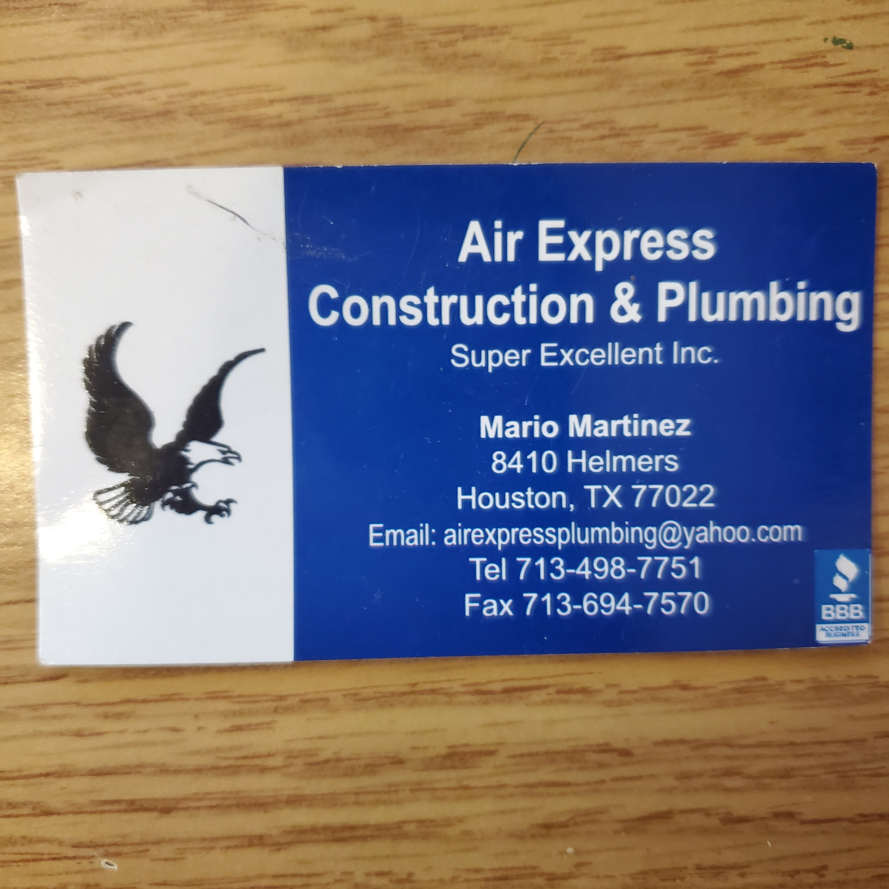 Air Express Const. & Complete Plumbing Service