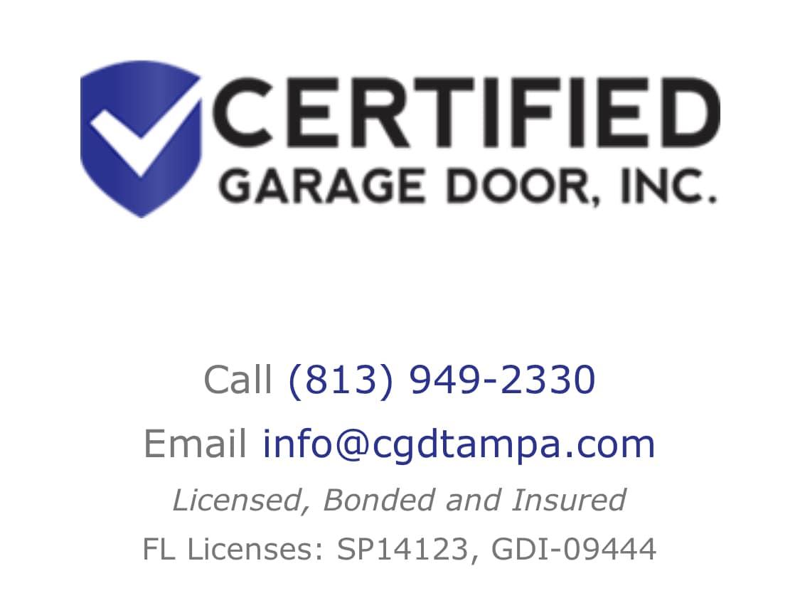 Certified Garage Door Inc
