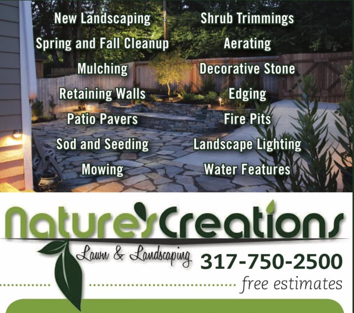 Nature's Creations Lawn & Landscaping