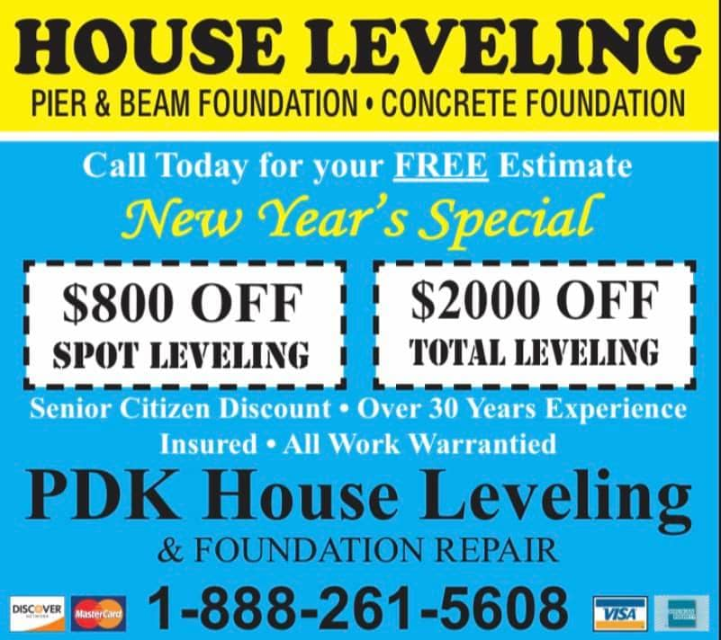 PDK House Leveling and Foundation Repair
