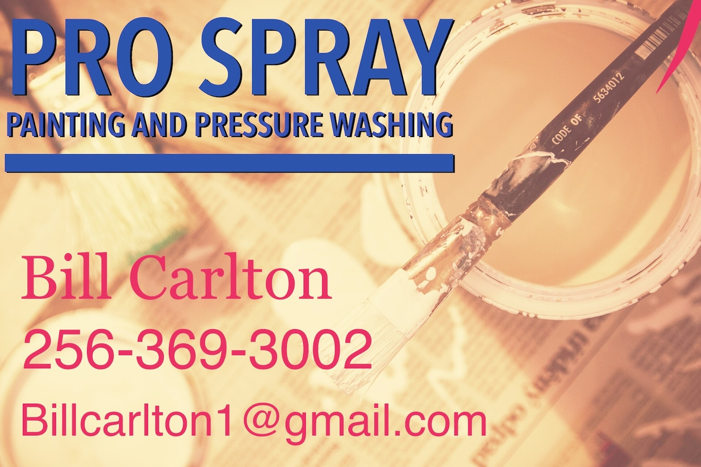 Pro Spray Pressure Washing
