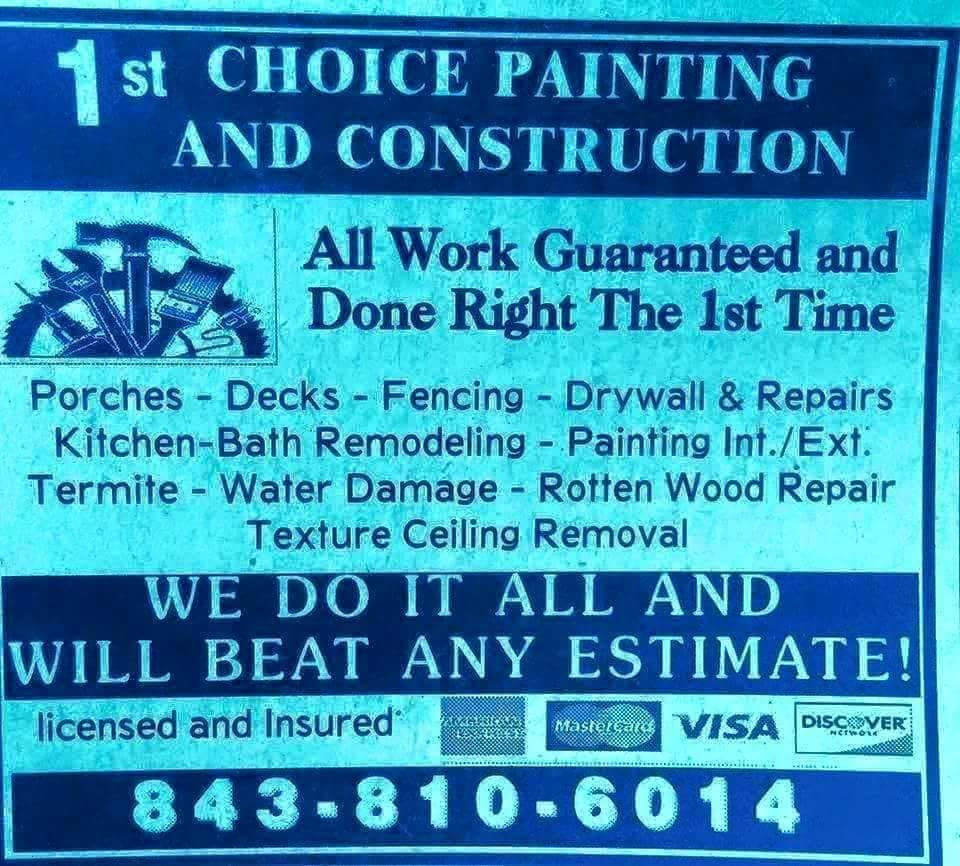 1st Choice Painting and Construction
