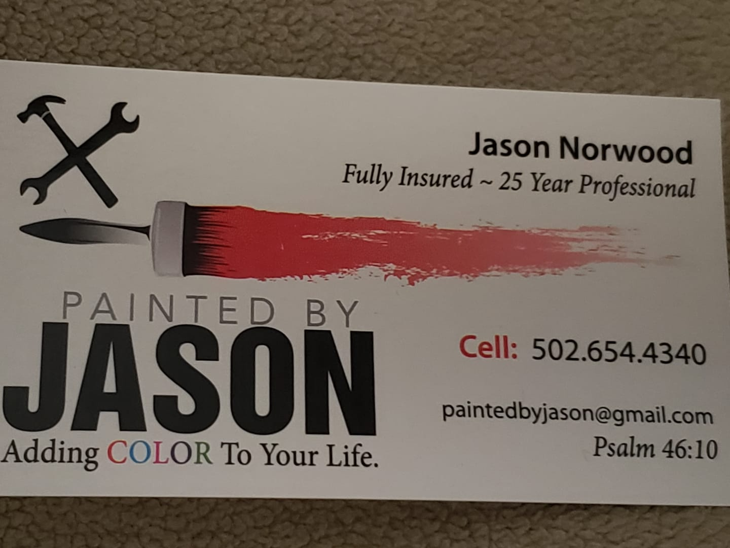 Painted by Jason