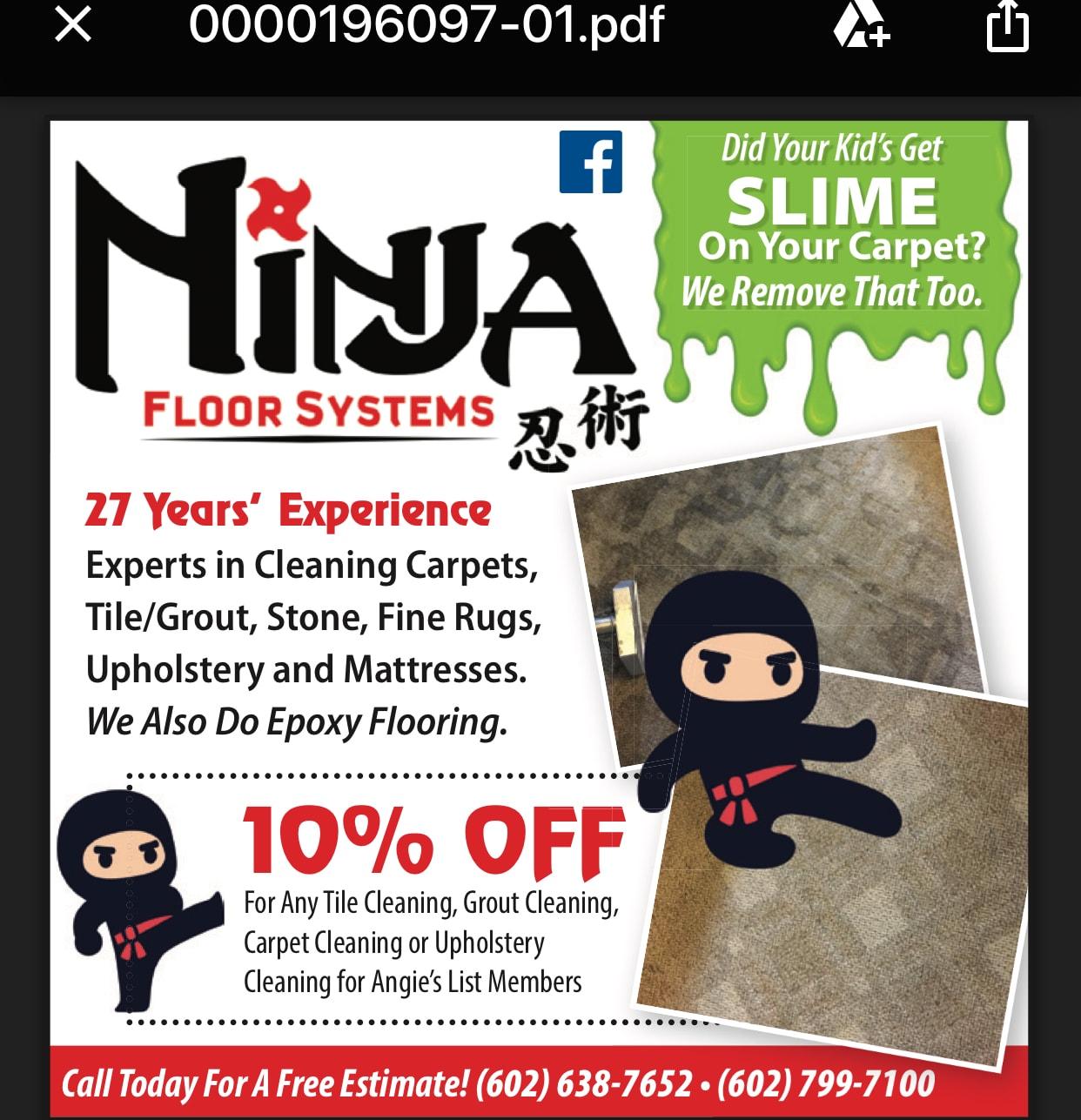 Ninja Restoration LLC., Tile & Carpet