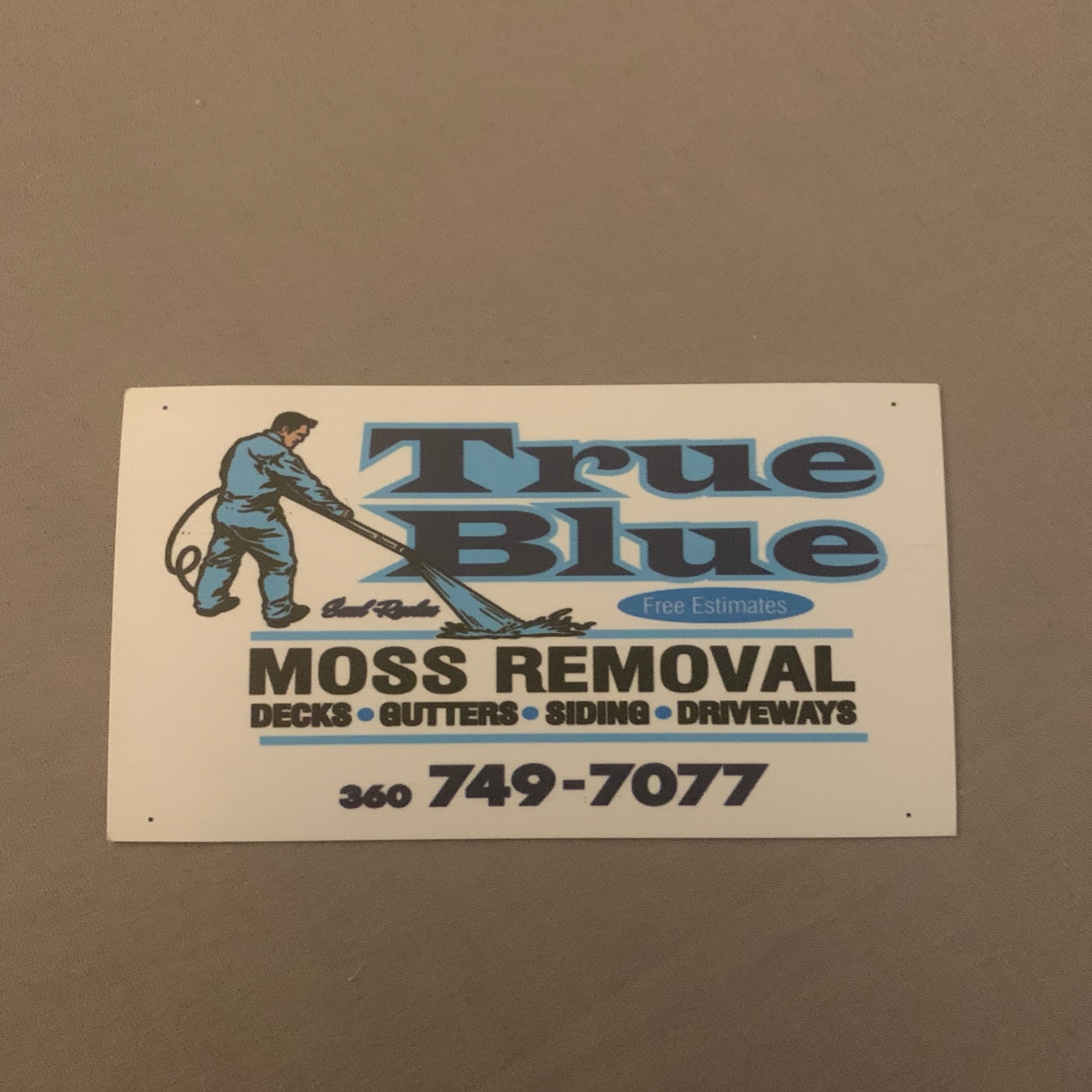 True Blue Moss Removal
